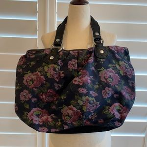 Lucky Brand soulful floral tote purse w/ black NWT